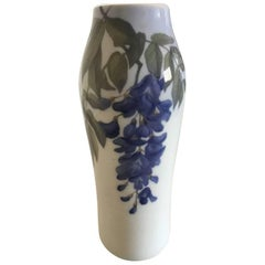 Royal Copenhagen Vase #181/232 with Wisteria Flower Motif