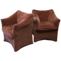 Pair of Mario Bellini Tentazione Lounge Chairs for Cassina