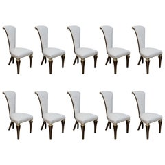 Set of Ten Christopher Guy Dining Chairs