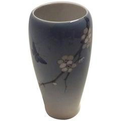 Royal Copenhagen Art Nouveau Vase with Flowers and Butterfly # 2301 / 235