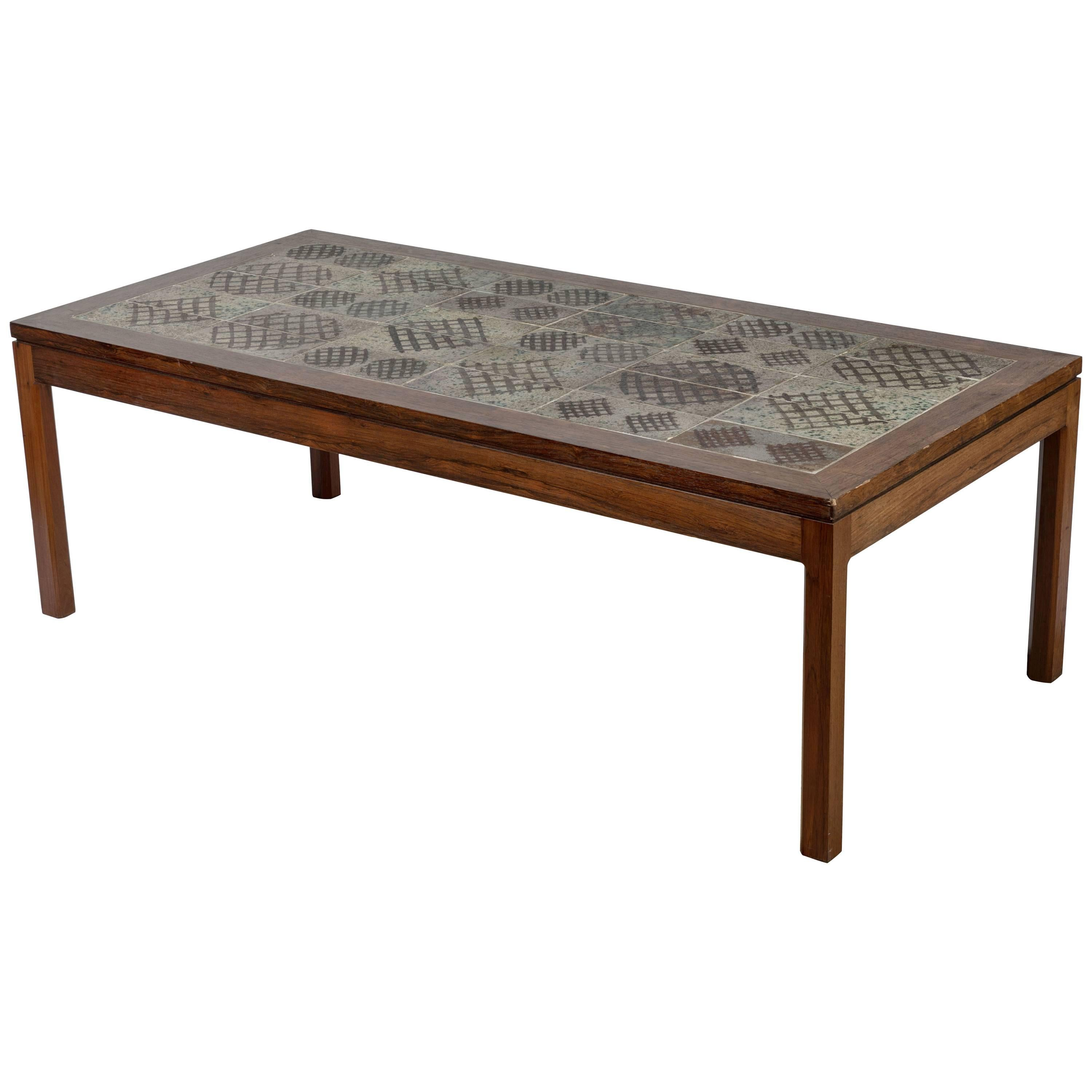 Midcentury Tile Top Coffee Table