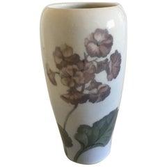 Royal Copenhagen Vase #727/235 with Flower Motif