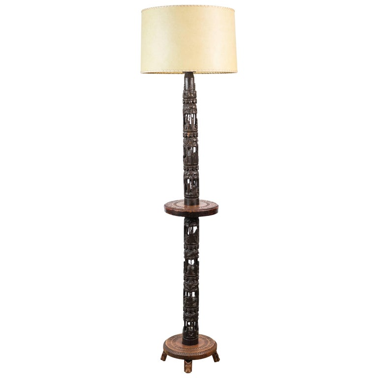 French African Floor Lamp For Sale