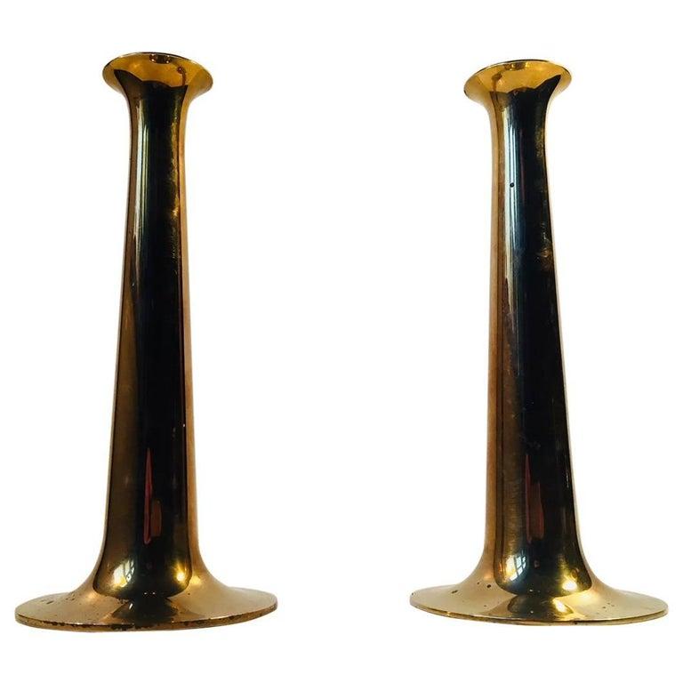 Pair of Mid-Century Brass Candlesticks by Hans Bolling for Torben Ørskov, 1960s