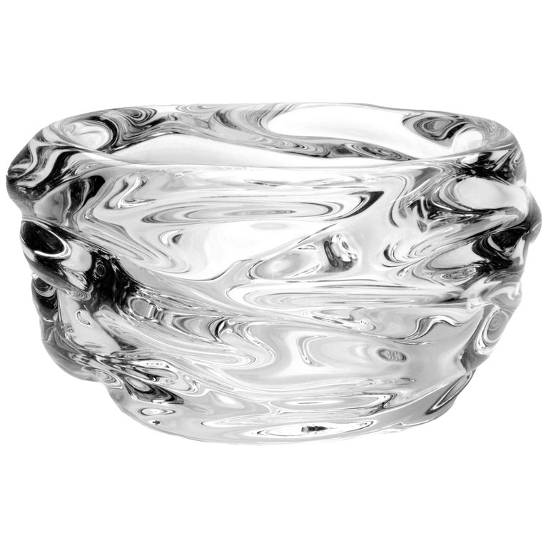 Large Clear Glass Bowl, Happy Series by Siemon & Salazar