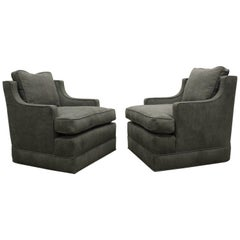 Pair of 1960s Club Chairs by Edward Wormley