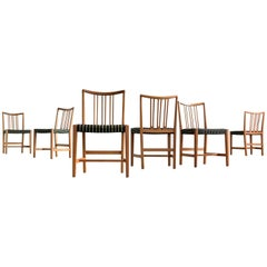 Hans Wegner Set of Six Dining Chairs, circa 1942 for Mikael Laursen