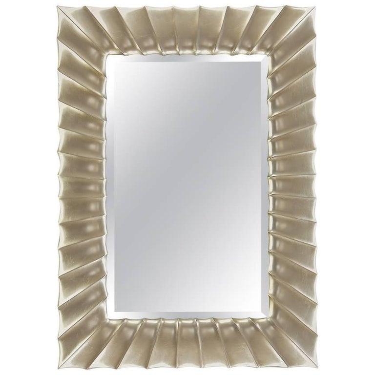 Large Italian Mahogany Frame Mirror with Original Plate at 1stdibs