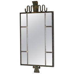 Patinated Bronze 1930s Mirror from Böhlmarks