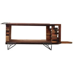 Contemporary Khuni Reclaimed Solid Wood multifunctional piece, Sealed with Oil.