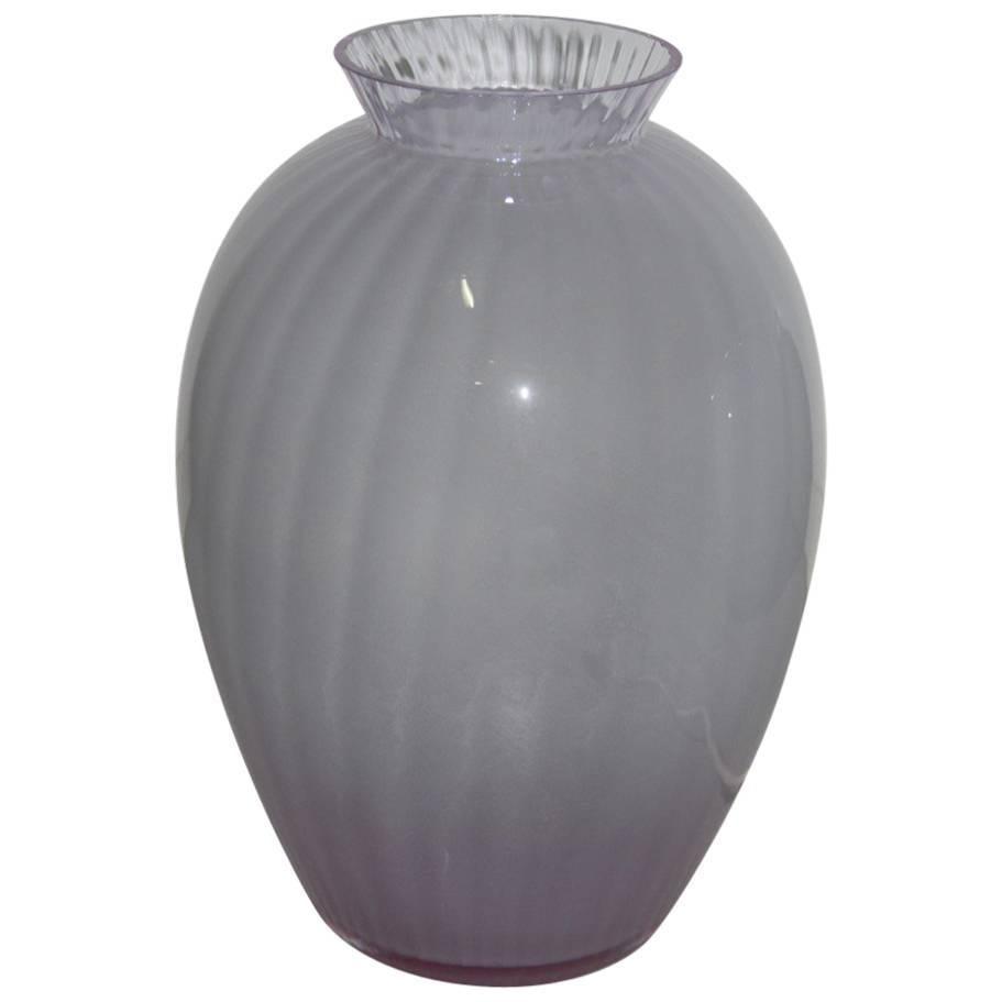 Table Lamp in the Shape of Vase Carlo Moretti Murano Art Glass, 1970