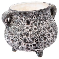"Midcentury Italian Vallauris Ceramic Pot Signed by ""Meribel"""