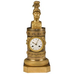Empire Gilt Bronze Clock Mantel, circa 1800