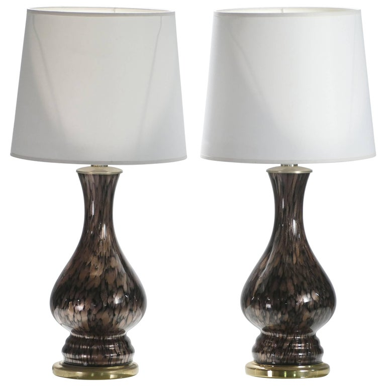 Pair of Murano Bedside Lamps by Vincenzo Nason, 1960s