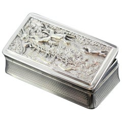 Fine William IV Silver Hunting Snuff Box, Edward Edwards II, London, 1836