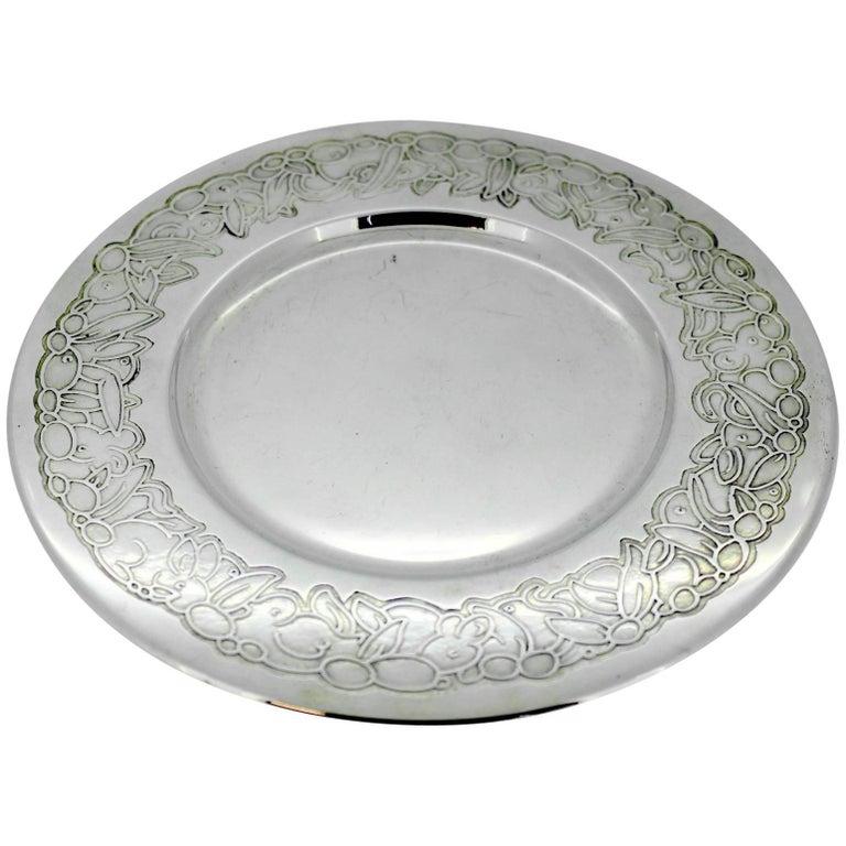 Silver Dish Asprey London, 2003
