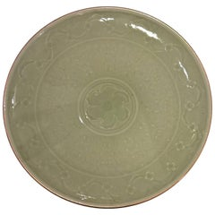 Art Deco Sevres Ceramic Plate in Celadon
