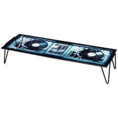 """Xraydio 2 Disc"" Glass and Black Raw Steel Low Table by Moroso for Diesel"