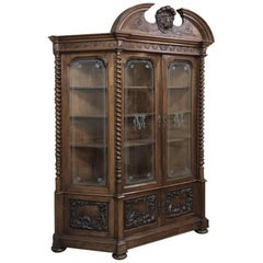 Grand 19th Century Italian Renaissance Walnut Bookcase