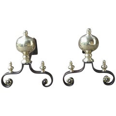 18th Century French Andirons or Firedogs