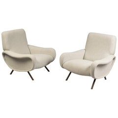 "Pair of ""Lady"" Armchairs by Marco Zanuso for Arflex, Italy, 1950"