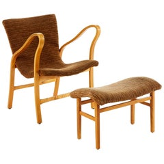 Early Armchair by Gustaf Axel Berg Curved Beench, 1940