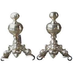 17th Century French Andirons or Firedogs