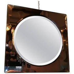 Cristal Art 1950, Mirror, Brass and Cristal
