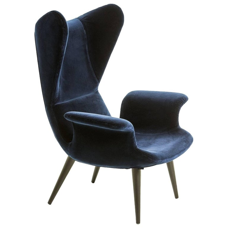 Longwave Fabric Or Leather High Back Armchair By Moroso For Diesel