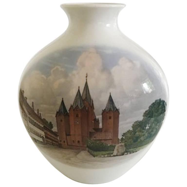Bing & Grondahl Unique Vase by Sophus Jensen For Sale