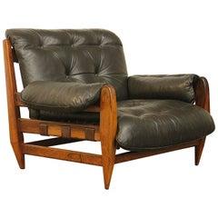 Rare Jean Gillon for Italma Wood Art Easy Lounge Chair