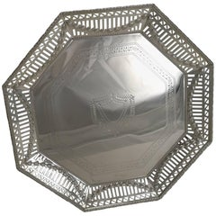 Antique English Silver Plated Salver or Tray, circa 1900