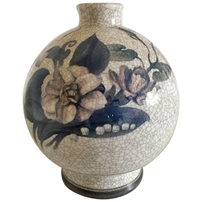 Bing & Grondahl Art Nouveau Unique Vase by Jo Ann Locher #703