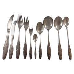 Diamant / Diamond by A. Dragsted Danish Sterling Silver Flatware Set