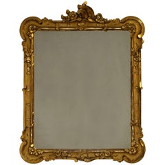 Two-Tone Gilt Carved Mirror, 19th Century