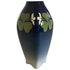 Royal Copenhagen Art Nouveau Vase No. 401/240 with Clover Decoration