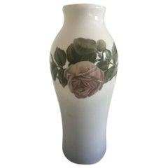 Royal Copenhagen Vase #1393/244 with Rose Motif