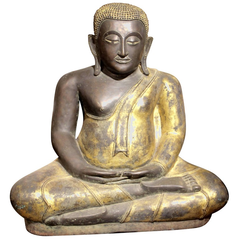 Buddha in Bronze Black Gold, Thailand