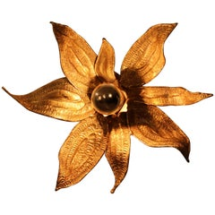 Gilt Bronze Floral Sconce by Paul Moerenhout