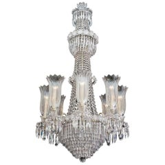 Large Eight-Light Regency Tent and Waterfall Chandelier of the Finest Quality