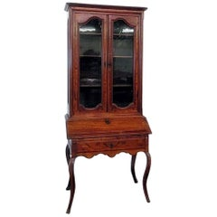 18th Century Louis XVI Style French Inlaid Secretary Desk
