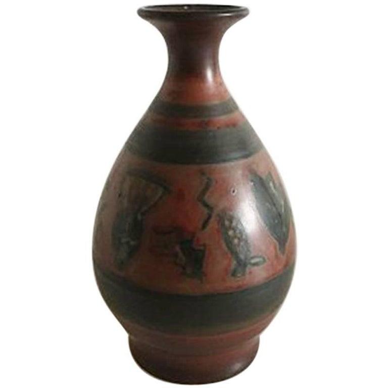 Bing & Grondahl Unique Vase by Cathinka Olsen #1763 For Sale
