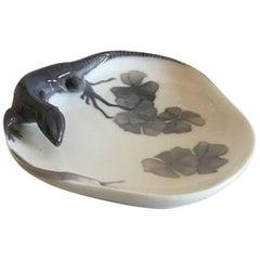 Royal Copenhagen Lizard and Snail Dish #630/308