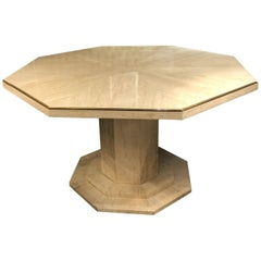 Octagonal Travertine Center Table, Italy, 1970s