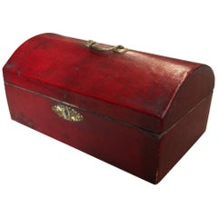 Georgian Red Leather Document Box