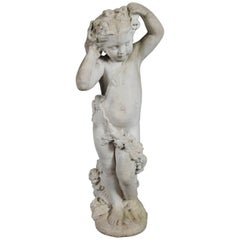 Classical Figural Concrete Garden Sculpture of Young Child, 20th Century