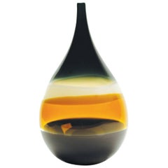 Earth Tone Glass Vase by California Designer Caleb Siemon