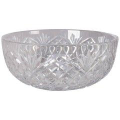Waterford School Brilliant Cut Crystal Bowl, Pineapple Design, 20th Century