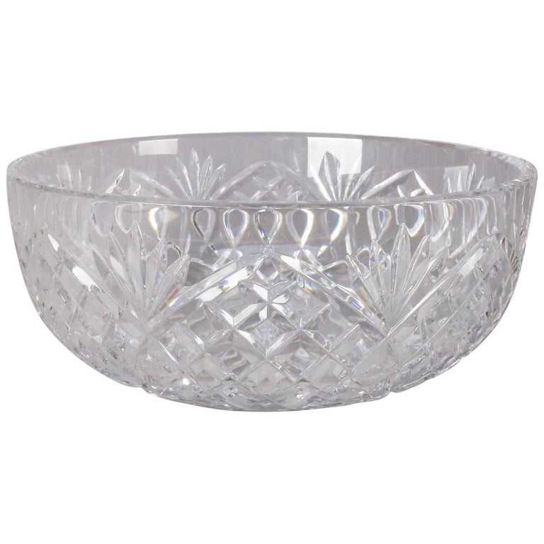 Waterford School Brilliant Cut Crystal Bowl Pineapple Design 20th