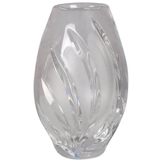Signed John Rocha Waterford Black Cut Crystal Vase For Sale At 1stdibs